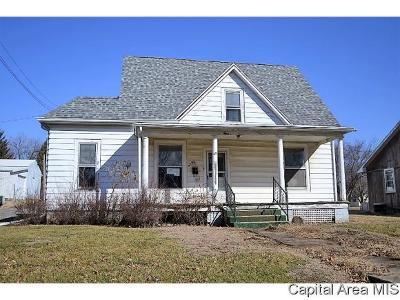 Virginia Single Family Home For Sale: 321 E. Beardstown