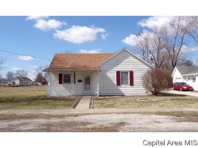 Virden Single Family Home For Sale: 939 N Noble