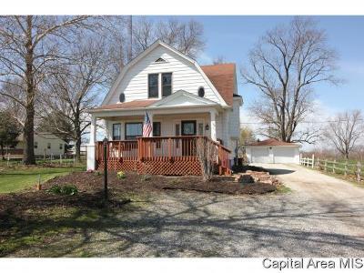 Pleasant Plains Single Family Home Pending Continue to Show: 1407 N Farmingdale Road