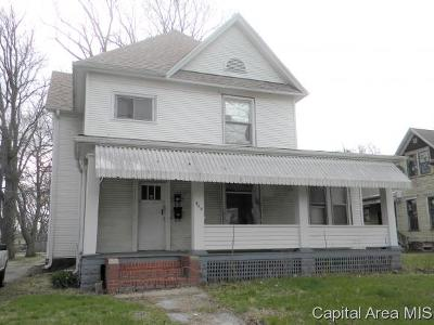 Jacksonville IL Single Family Home For Sale: $14,900