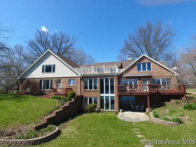Sangamon County Single Family Home For Sale: 14 Island View Ln