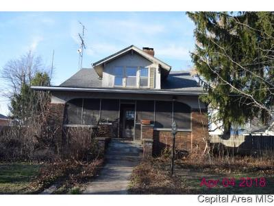 Virden Single Family Home For Sale: 121 W Hill St