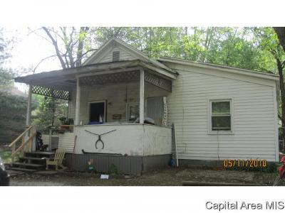 Taylorville IL Single Family Home For Sale: $13,000