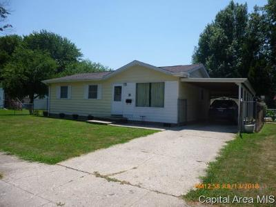 Jacksonville IL Single Family Home For Sale: $78,000