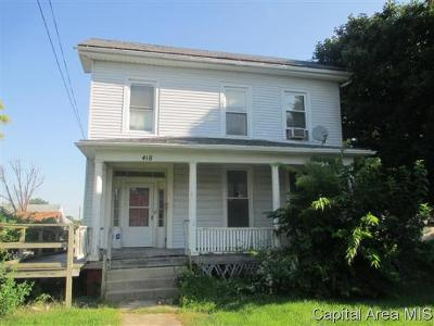 Jacksonville IL Single Family Home For Sale: $19,900