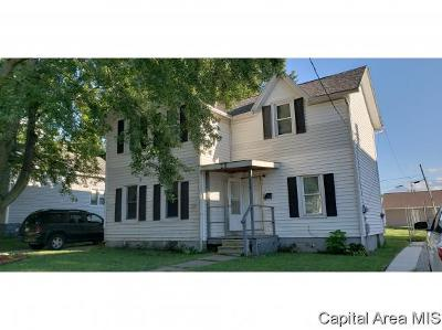 Taylorville IL Multi Family Home For Sale: $32,500