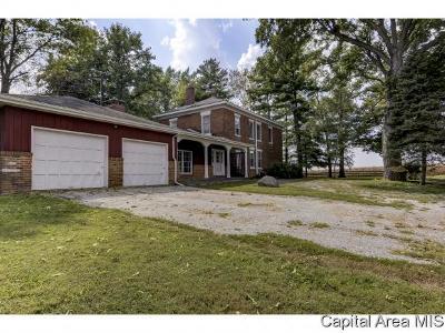 Pleasant Plains Single Family Home For Sale: 6650 Salisbury Cemetery Rd