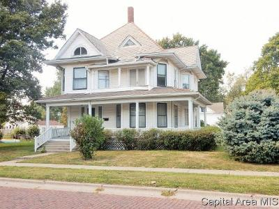 Taylorville Single Family Home For Sale: 401 W Vine St