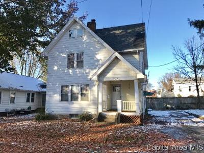 Jacksonville IL Single Family Home For Sale: $49,900