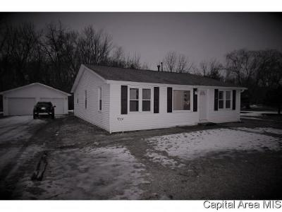Pleasant Plains Single Family Home For Sale: 408 W Main St