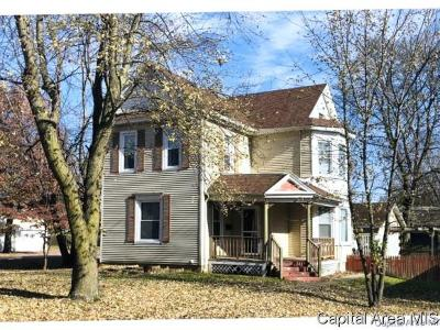 Virden Single Family Home For Sale: 434 N Springfield St