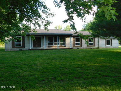 Benton Single Family Home For Sale: 13590 Bowling Alley Road