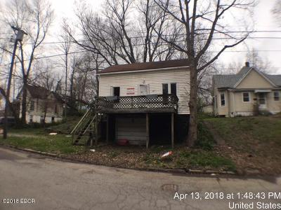 Murphysboro IL Single Family Home For Sale: $7,500