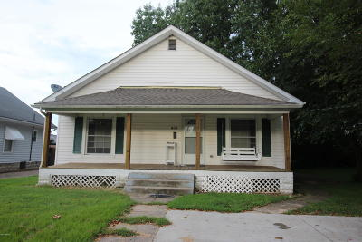 Herrin IL Single Family Home Active Contingent: $44,900