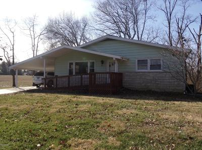 Carbondale IL Single Family Home For Sale: $90,000