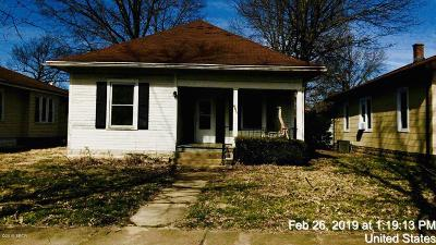 Murphysboro IL Single Family Home For Sale: $17,500
