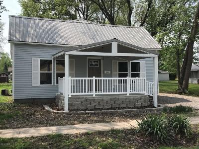West Frankfort Single Family Home For Sale: 206 E Lindell St Street