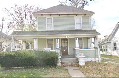 Carbondale IL Single Family Home For Sale: $74,900