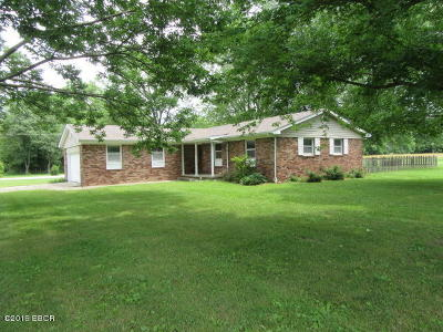 Mt. Vernon Single Family Home Active Contingent: 19440 N Green Acres Road