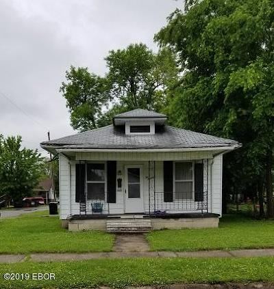 Harrisburg IL Single Family Home For Sale: $14,000
