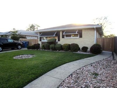 Bridgeview Single Family Home For Sale: 7508 South Octavia Avenue