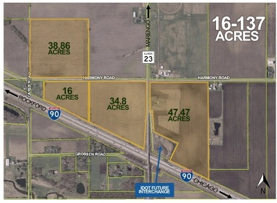 Marengo Residential Lots & Land For Sale: Rt. 23 & Harmony Road