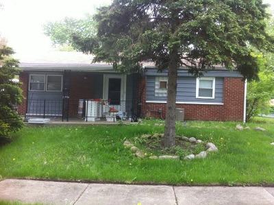 Sauk Village Single Family Home For Sale: 21539 Merrill Avenue