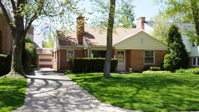 Wilmette Single Family Home For Sale: 1229 Middlebury Lane