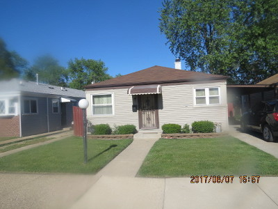 Calumet Park Single Family Home For Sale: 12629 South Elizabeth Street