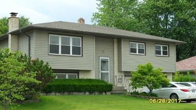 Hanover Park Single Family Home For Sale: 7390 Gladiola Avenue