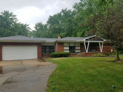 Homewood IL Single Family Home For Sale: $89,900