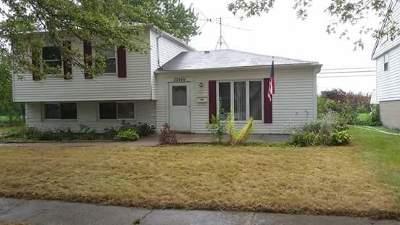 Sauk Village Single Family Home For Sale: 22449 Yates Avenue