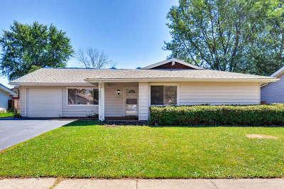 Hanover Park Single Family Home Price Change: 5433 Redford Lane