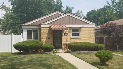 Calumet Park Single Family Home For Sale: 12535 South Ada Street