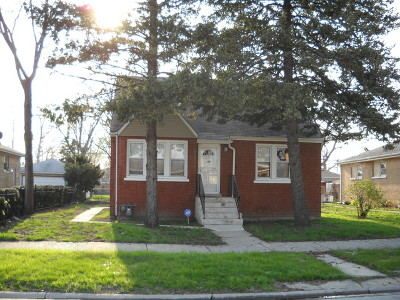 Calumet Park Single Family Home For Sale: 12616 South Page Street