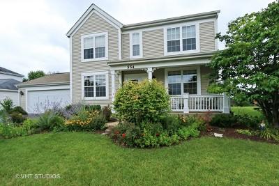 Round Lake Single Family Home Price Change: 554 South Beacon Lane