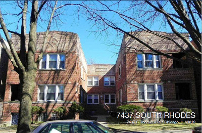 Chicago Multi Family Home For Sale: 7437 South Rhodes Avenue