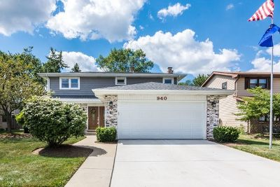 Carol Stream Single Family Home Contingent: 940 Dearborn Circle