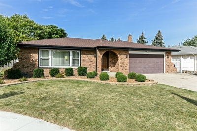 Orland Park Single Family Home Contingent: 15650 Narcissus Lane