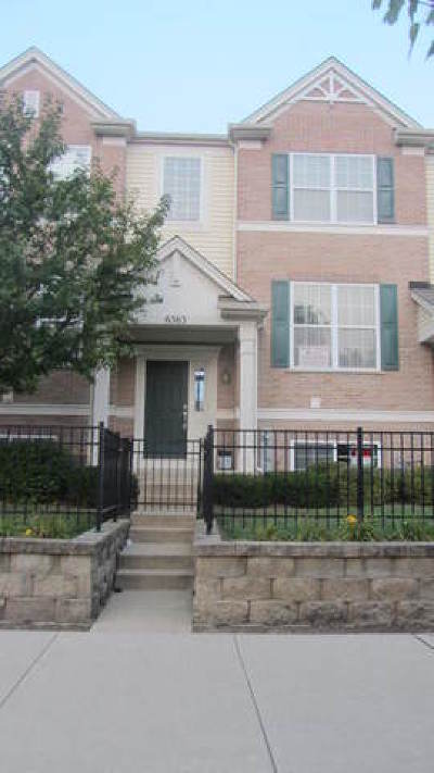 Hanover Park Condo/Townhouse For Sale: 6563 Church Street