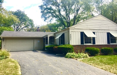 Western Springs Single Family Home For Sale: 5531 Ridgewood Drive