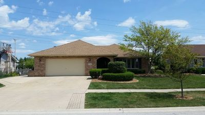 Tinley Park Single Family Home For Sale: 17719 Cloverview Drive