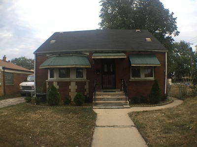 Calumet Park Single Family Home For Sale: 12835 South Throop Street