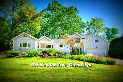Glen Ellyn Single Family Home For Sale: 615 Newton Avenue