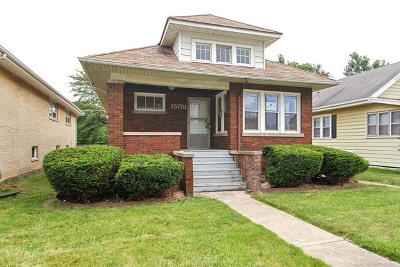 South Holland Single Family Home For Sale: 15751 South Park Avenue