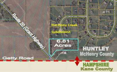 Huntley Residential Lots & Land For Sale: Route 20