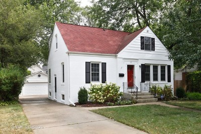 Clarendon Hills Single Family Home Price Change: 117 Hiawatha Drive