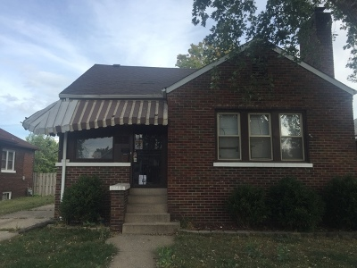 Calumet City Single Family Home For Sale: 28 156th Place