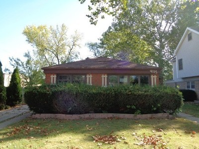 Brookfield Single Family Home For Sale: 4115 Blanchan Avenue