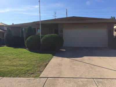 Orland Hills Single Family Home For Sale: 9219 170th Place